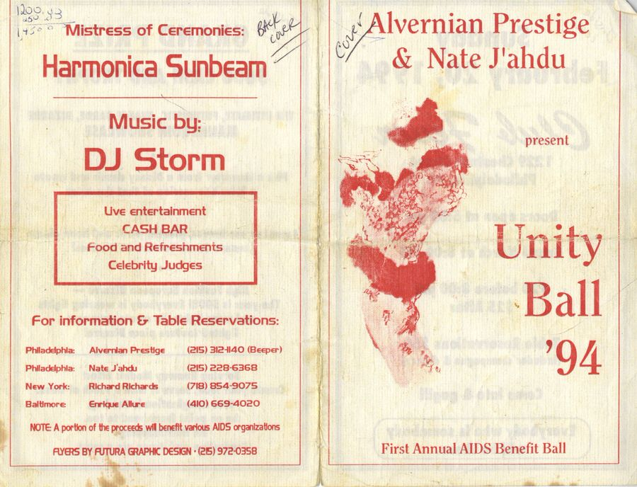 A flyer from the 1994 Unity Ball. (Courtesy Alvernian Prestige)